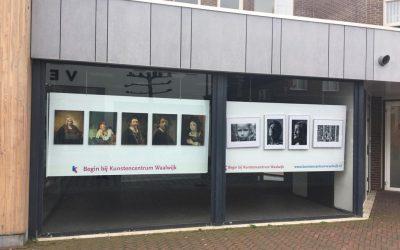 Het Kunstencentrum Waalwijk etaleert schilderwerken van cursisten in de Els.